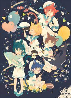 Rin Matsuoka, Makoto Tachibana, Rei Ryugazaki, Swimming Anime, Free Eternal Summer, Splash Free, Free Iwatobi Swim Club, Kyoto Animation, Neko Cat