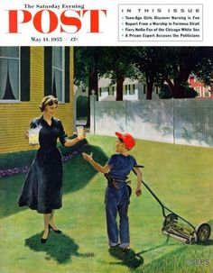 Lemonade for the Lawnboy – George Hughes A shiny quarter would be welcome, but when trimming the lawn in the sticky heat of early summer, payment in icy fresh-squeezed lemonade is just as appreciated.