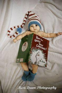 Baby Dr Seuss Christmas photo shoot. One of My favorites!