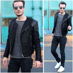 Christian Dior So Real Sunglasses, Givenchy Tweed And Leather Jacket, Common Projects White Sneakers