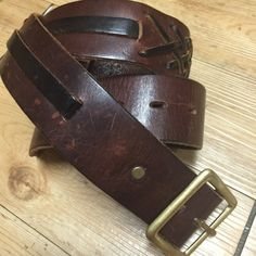 Leather Belt Handcrafted belt, Very nice leather bradding, brass buckle. Accessories Belts