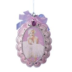 Marilyn Monroe Glass Christmas Tree Ornament - Licensed by: Museum Masters International  . Year: 2017. Height: 3""