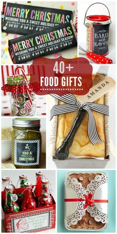 40+ Food Gift Ideas perfect for friends and neighbors for Christmas! { lilluna.com }