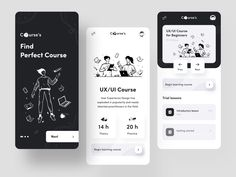 Courses App by Afterglow on Dribbble App Ui Design, Mobile App Design, Interface Design, Dashboard Design, Mobile Ui, Interface App, Mobile Code, Flat Design, Design Design