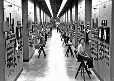 The Secret City - Oak Ridge, TN.  Calutron operators at their panels, in the Y-12 plant at Oak Ridge, Tennessee, during World War II... Gladys Owens, the woman seated in the foreground, did not realize what she had been doing until seeing this photo in a public tour of the facility fifty years later. (Ed Westcott/DOE)