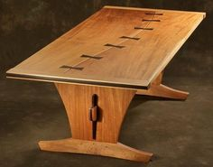 Beautiful Wooden Table 33...More Amazing #wooden #tables and #Woodworking Projects, Photos, Tips & Techniques at ►►► www.woodworkerz.com