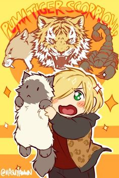 Yuri on ice- Yuri Plisetsky - What more to say other than we just LOVE cool stuff! Check out our store for even more COOL stuff! Otaku Anime, Manga Anime, Anime Art, Geeks, Yurio X Otabek, Yuri On Ice Comic, Yuri!!! On Ice, Manhwa, Chibi