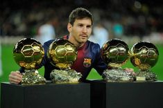 Lionel Messi and some of his awards | Image source: Healthyceleb.com