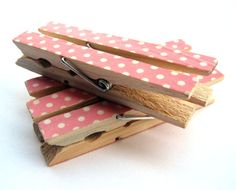 Clothespins decorated with washi paper