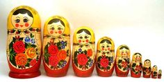 Classic Matryoshka Selection at Maison Russe - The Russian Shop in Lisle IL.