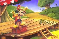 """The Maestro's Baton"" by James C. Mulligan #Disney #DisneyFineArt #MickeyMouse #JamesCMulligan"