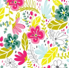 Wild Flower - Modern Floral fabric by heatherdutton on Spoonflower - custom fabric