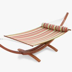 cypress wood arc hammock with summer stripe poly bed at the garden gates vivere 108 in hammock stand included   yes please    pinterest      rh   pinterest co uk