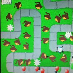 Bloons tower defence. (yes it spells balloons weird) it's a really addictive game! It's by ninja kiwi.