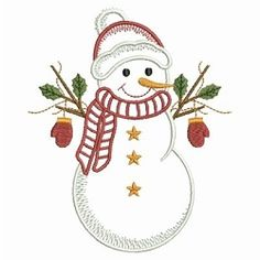 Vintage Snowman 6 - 3 Sizes! | What's New | Machine Embroidery Designs | SWAKembroidery.com Ace Points Embroidery