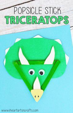 Easy art projects for kids preschool popsicle sticks ideas Dinosaurs Preschool, Dinosaur Activities, Preschool Crafts, Dinosaur Crafts Kids, Spanish Activities, Easy Diy Crafts, Craft Stick Crafts, Fun Crafts, 3d Craft