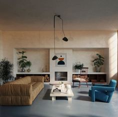 interior featuring furnitures by gerrit rietveld, such as the rare version of utrecht chair in blue Interior Design Inspiration, Home Interior Design, Interior Architecture, Interior And Exterior, Home Design, Interior Decorating, Diy Decorating, Home Living Room, Apartment Living