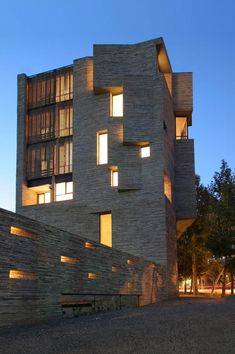 Contemporary Residence in Mahallat, Iran designed by AbCT with design and stonework by  Ramin Mehdizadeh