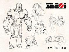 FERROTIPO - Character Design per ZEROI - artwork by Cinci