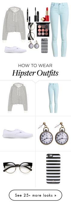 """""""Casual"""" by the-corpse-bride on Polyvore featuring Barbour, Vans, Yves Saint Laurent, Estée Lauder, NARS Cosmetics, MAC Cosmetics, Kate Spade, casual and casualoutfit"""