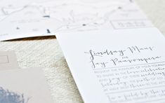 Whimsical Outdoor Wedding Invitations Suite Paperie2 Lindsay + Jays Whimsical Nature Inspired Wedding Invitations