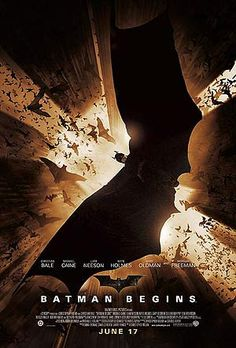 Most hero movies have the character up front and large. This one keeps Batman far away and detached. Its a nice view of what a criminal would see in his final moments.