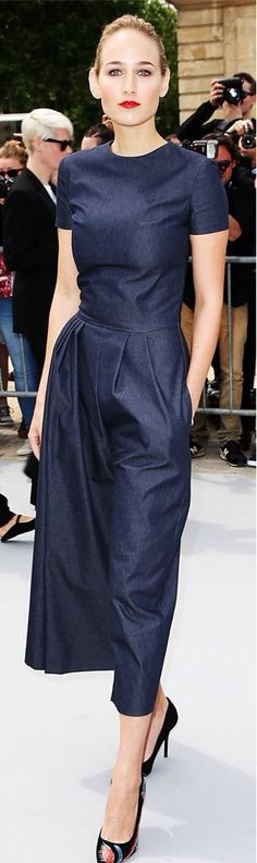 I would love a dress like this. Love the blue, but not the denim.