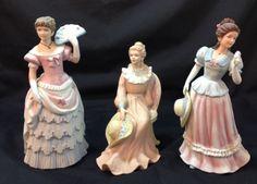 Vintage Porcelain Bisque Southern Maiden Figures Women Lady Lot