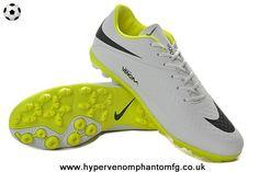 outlet store aeb71 963f2 Nike Hypervenom Phelon TF Jnr (White Black   Yellow) Soccer Cleats Cr7 Shoes ,