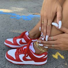 Dr Shoes, Nike Air Shoes, Hype Shoes, Me Too Shoes, All Red Nike Shoes, Moda Sneakers, Cute Sneakers, Shoes Sneakers, Sneaker Heels