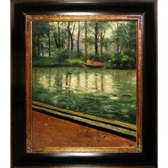 Tori Home The Yerres, Effect of Rain by Caillebotte Framed Hand Painted Oil on Canvas