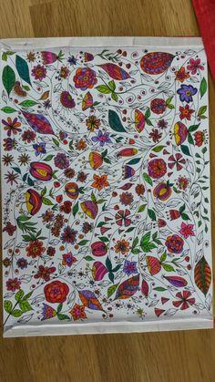 Zentangle, doodle, blumen, flowers bunt