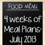 July meal plan: 4 weeks of summer dinners