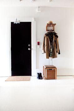 Such a nice entryway requires nice coats and shoes.