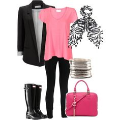 Classic Blazer with Pink Splash - Mom Fashion