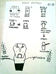 origami clone trooper finger puppet instructions