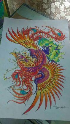 Grey Ink Tattoos, Body Art Tattoos, Crow Tattoos, Ear Tattoos, Small Phoenix Tattoos, Phoenix Tattoo Design, Elephant Tattoos, Animal Tattoos, Fenix Tattoos