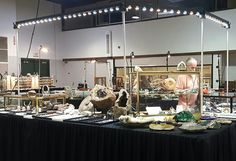 Gem and mineral trade show booth display lighting by www.showofflighting.com American Made USA #gemshow #mineralshow #jewelryshow #displaybooth