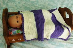 Alli Crafts: Free Pattern: Doll Blanket with Special Stitch