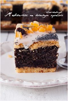 Poppy Seed Cake, Polish Recipes, Homemade Cakes, Fun Drinks, Baked Goods, Cheesecake, Food And Drink, Cooking Recipes, Ice Cream