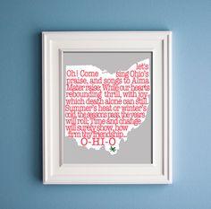 Carmen+Ohio++Buckeye+State+Print+by+KenmoreHouse+on+Etsy,+$12.00