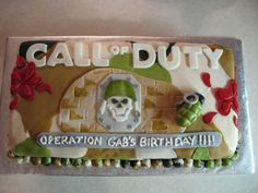 "Call of Duty cake = I like the ""operation birthday"" part"