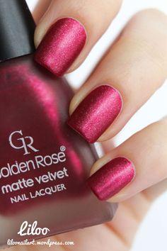 Golden rose matte velvet 106 - polishinail shop
