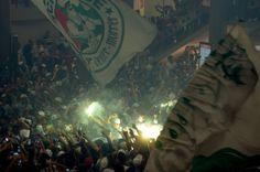 Torcida faz festa impressionante em embarque do Palmeiras em Congonhas Você  É Minha Vida bac2f4f4a7a62