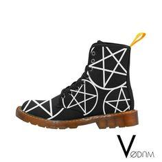 PENTAGRAM Marten boots - Gothic, Pagan, Witchcraft, Witch, Magic, Wicca, Black, Dark, Militar, Goth, Lolita, Punk, Rain