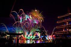 IllumiNations: Reflections of Earth lights up the sky at Walt Disney World's Epcot.