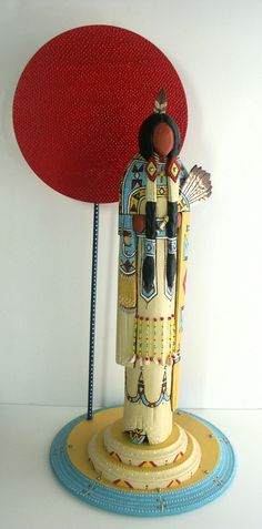 Cheyenne buckskin fancydancer Native American by MyPeopleDolls, $950.00