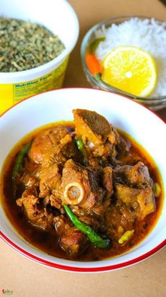 Dhaba style Mutton curry - Spicy World Simple and Easy Recipes by Arpita Lamb Recipes, Veg Recipes, Easy Chicken Recipes, Curry Recipes, Indian Food Recipes, Asian Recipes, Vegetarian Recipes, Cooking Recipes, Ethnic Recipes