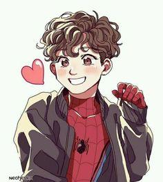 Baby Spiderman, Parker Spiderman, Spiderman Art, Marvel Fan Art, Marvel Avengers, Avengers Imagines, Avengers Pictures, Marvel Drawings, Spideypool