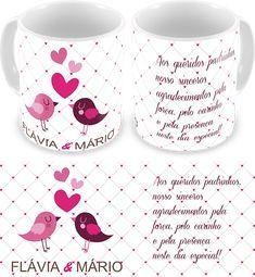 Caneca Personalizada Casamento - Padrinhos - COD 1131 2